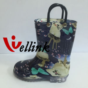 Children Fashion Style Rubber Rain Boots pictures & photos