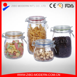 Wholesale Machine Made Glass Jar with Metal Clip / Glass Storage Jar pictures & photos