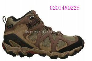 Nubuck Leather Hiking Shoes pictures & photos