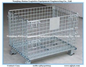 Foldable Stackable Wire Mesh Storage Container with CE Certificate pictures & photos
