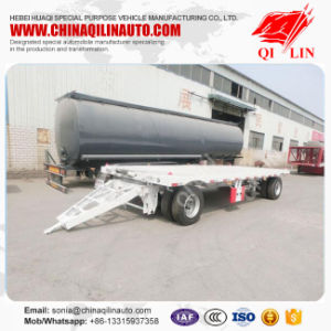 2 Axle 20FT Drawbar Dolly Trailer for (flatbed) pictures & photos