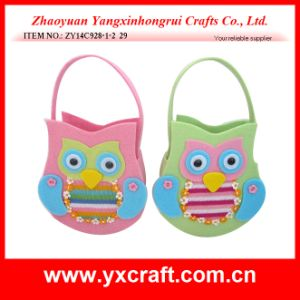 Easter Decoration (ZY14C928-1-2 29.5CM) Easter Holiday Gift Easter Day Basket pictures & photos