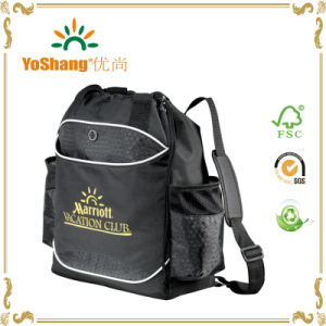 Outdoor Drawstring Bag Backpack Casual Travel Backpack 600d Polyester Tote Bag pictures & photos