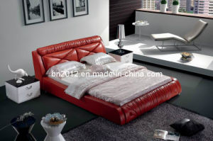 Modern Genuine Leather Bed (SBT-5842) pictures & photos