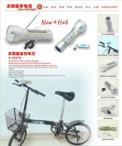 Solar Bike Light With Multifunction (D-2687N)