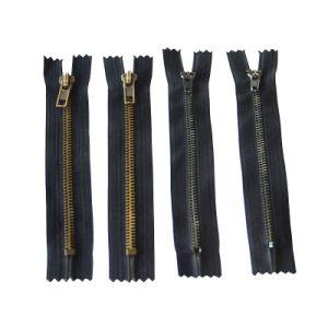 5# Brass Zipper with Golden Teeth pictures & photos