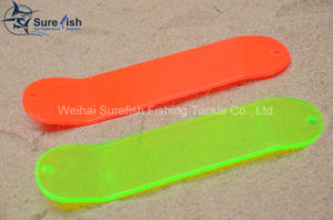 Free Shipping Wholesale Plastic UV Coating Fishing Flasher pictures & photos