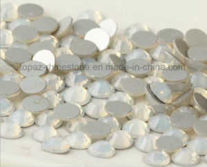Round Flat Bottom Crystal Stones Nail Art Rhinestones (FB-SS6 white oppal) pictures & photos