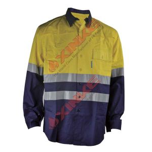 Flame Retardant and Anti Mosquito Shirt with Reflective Tapes