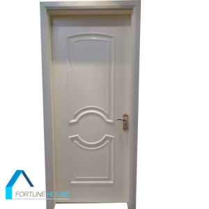 Interior Smooth White Primer Molded HDF Wooden Door for Bedroom pictures & photos
