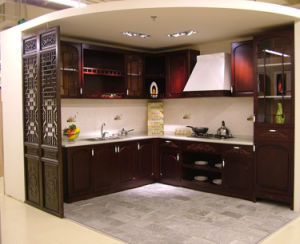 Ritz kitchen furniture chinese style wood kitchen cabinets for Chinese kitchen cabinets