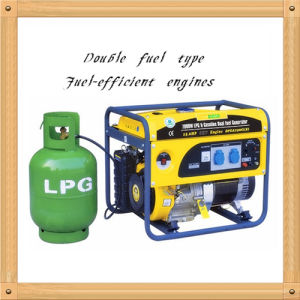 6000W Silent Small LPG and Gasoline Generator for Sale