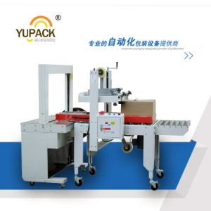 Yupack Automatic Carton Box Taping Machine with Strapping Machine pictures & photos