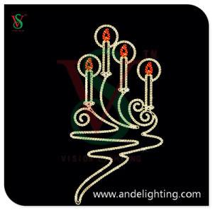 Christmas LED 2D Motif Light Candle Motif Pole Light pictures & photos