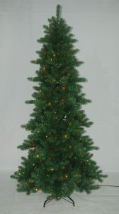 Realist Artificial Christmas Tree with String light Multi Color LED Decoration (ATA2) pictures & photos