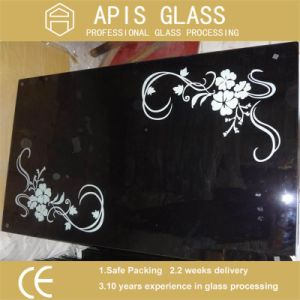 Black Color Silk Screen Printed Toughened Glass for Gas Cooker pictures & photos