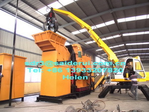 Powerful Ferrous Metal Scrap Shredder with Wear Resisting Plate, Durable Efficient Hammer Shredders for Sale