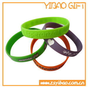 Custom Logo Cheap Silicone Wristband for Promotional Gifts (YB-SW-36) pictures & photos