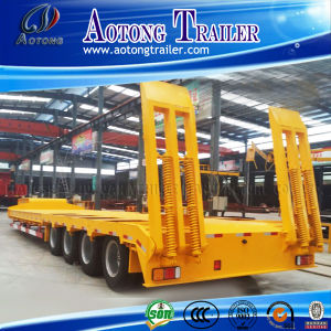 4 Axle 100ton Lowboy Truck Trailer pictures & photos