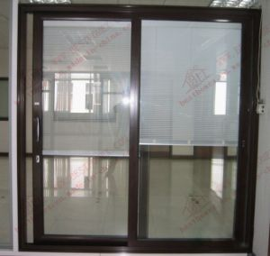 Powder Coating Aluminum Sliding Door with Built-in Shutters (BHA-DS17) pictures & photos
