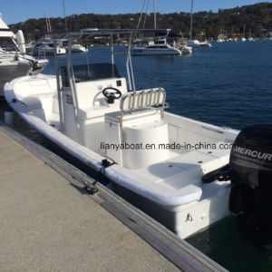 Liya 25ft Panga Boat China Fiberglass Hull Boat for Fishing for Sale pictures & photos