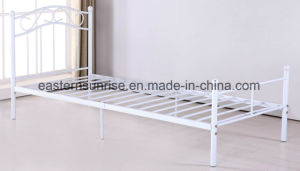 Cheap Price Metal Iron Steel Single Bed for Student pictures & photos