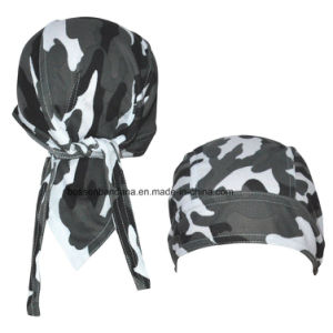 OEM Produce Customized Logo Printed Promotional Army Green Bandana Cap Headscarf pictures & photos