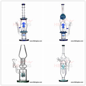 China Glass Manufacturer Hbking New Arrival Art Glass Water Pipe, Oil DAB Rig Recycler Percolator Beaker Glass Smoking Pipe pictures & photos