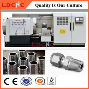 Chinese High Precision Horizontal Pipe Thread CNC Lathe Machine Price pictures & photos