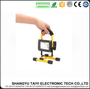 High Quality Super Bright 10watt Rechargeable Floodlight pictures & photos