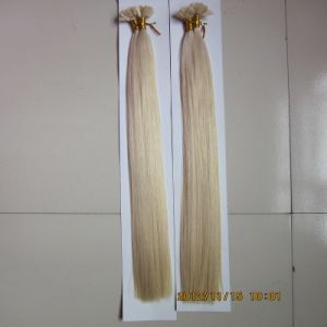 Double Drawn European Remy V Tip Human Hair Extension pictures & photos