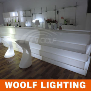 2017 New Design LED Illuminated Straight Bar Counter Furniture pictures & photos