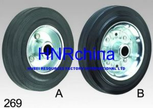 Black Rubber Wheel Heavy Duty Industrial Single Wheel pictures & photos