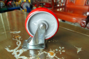 Swivel Caster with PU Wheel Cast Iron Core