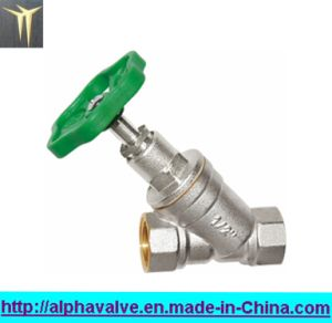 Brass Strainer Valve with Green Handle for Water (a. 0136)