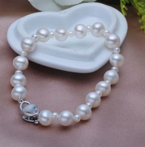 Freshwater Cultured Pearl Bracelet, Round, 3-7mm pictures & photos