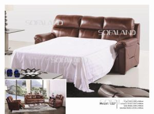 Italy Leather Sofa Bed 822# pictures & photos