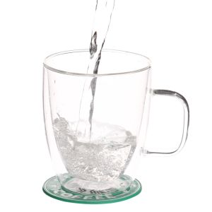 Clear Heat-Resistant Glass Cups for Drinking Milk pictures & photos