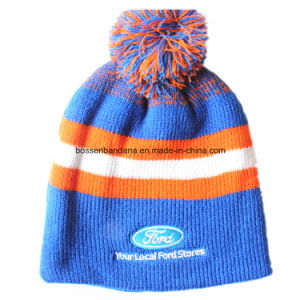 Beanie Factory Supply Cheap Promotional Embroidered Acrylic Winter Ski Sports Knit Slouch Fold Customized Beanie Hat pictures & photos