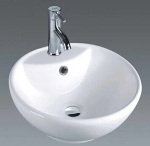Sanitary Ware Bathroom Ceramic Above Counter Wash Basin (7010) pictures & photos