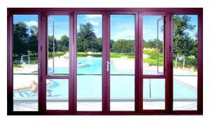 Aluminum Swing Door with Swing Window in Both Side pictures & photos