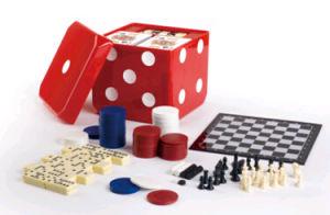 Plastic Dice Game Cube, 6in1 Game Set