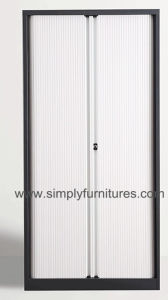 Tambour Door Storage Steel File Cabinet with 4 Layers Shelf pictures & photos