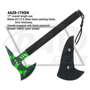 """17"""" Overall 3Cr13 Black Painting Axe with Black Paracord: 4az8-170gn pictures & photos"""