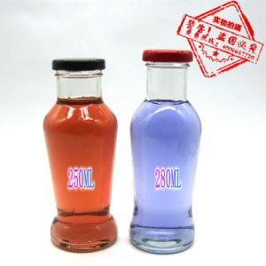 250ml, 260ml, 270ml Glass Juice Bottles for Beverage with Metal Lid pictures & photos