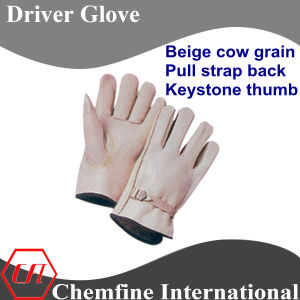 Beige Cow Grain, Pull Strap Back, Keystone Thumb Leather Driver Glove pictures & photos