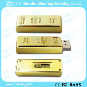 Hot Sale Gold Bar Metal USB Flash Drive (ZYF1122) pictures & photos
