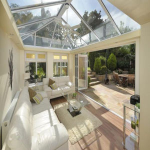 New Style Aluminum Sun Room with White Color Skylight Slant Roof Design (TS-502) pictures & photos