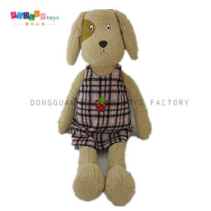 (FL-067) Baby Kids Custom Stuffed Plush Dog with Clothes