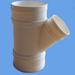 High Quality AS/NZS 1260 PVC Fitting PVC 45 Deg Plain Junction (F/F) for Drainage pictures & photos